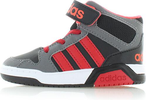 57a42a61845 adidas PERFORMANCE Dětské šedo-červené kotníkové tenisky ADIDAS BB9TIS Mid  Inf