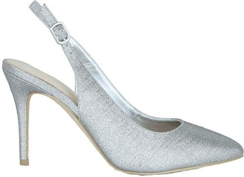 ddaa4645944 NEW LOOK Stříbrné boty na podpatku s glitry - Glami.cz