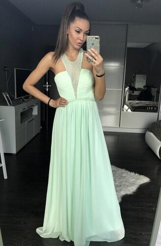Adria Dámské plesové a společenské dlouhé šaty s korálky Eva   Lola ... 59c1f605ea