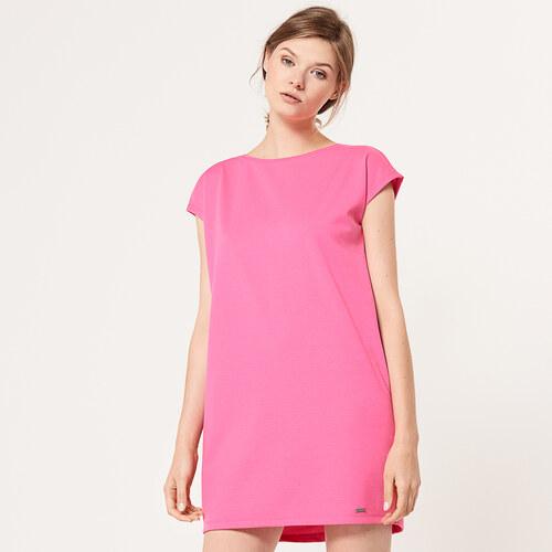 Mohito - Jednoduché úpletové šaty - Ružová - Glami.sk f3ccb0c4f58