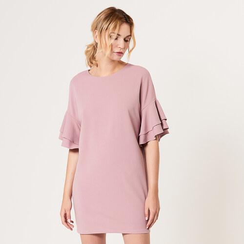 Mohito - Pudrové šaty s rozšířenými rukávy - Růžová - Glami.cz 45b8bd67501