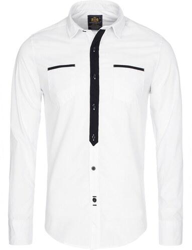 OZONEE Raw Lucci 800 Bílá Pánská Košile - Glami.cz 37f0cf47dd