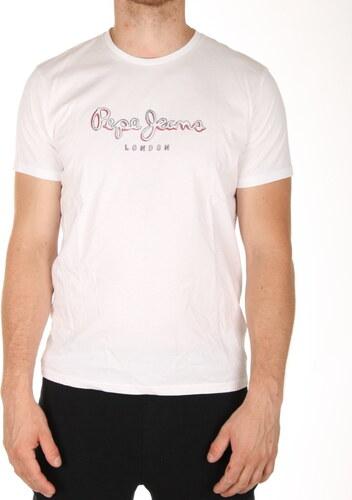 Pepe Jeans pánské bílé tričko New Eggo - Glami.cz cac73be3f1