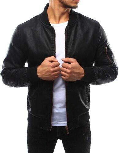 Pánska kožená čierna bunda tbb541722 - Glami.sk 4edfcb44e7c