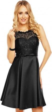 Dámské šaty doplněné krajkou Charm´s Paris černé Charm s Paris 9077 ... 9fd5dde3e2