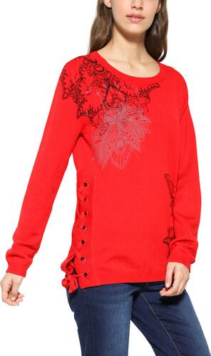 Desigual červený sveter Abraham - Glami.sk 10b7c7e1638