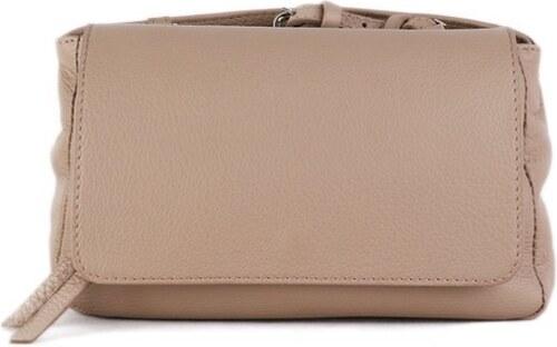 ITALSKÉ Krásné kožené kabelky Vera Pelle z Itálie béžové Lalia ... 71bbd8428e5