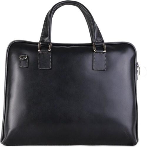 TALIANSKE Kožená kabelka do ruky Talianska sivo čierna Cloe - Glami.sk 21309691e17