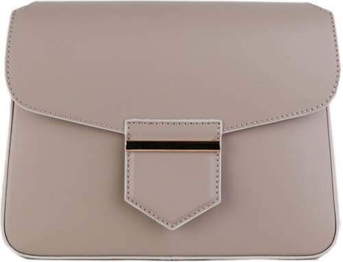TALIANSKE Kožená kabelka cez plece Talianska jemne sivá Ines - Glami.sk e6d17b700be