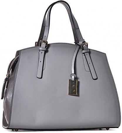 TALIANSKE Kožená kabelka do ruky a na plece Talianska sivá Laura ... db8d40a3b30