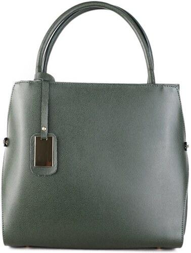 ITALSKÉ Kožená kabelka do ruky Italská zelená Pamela 4df68525466