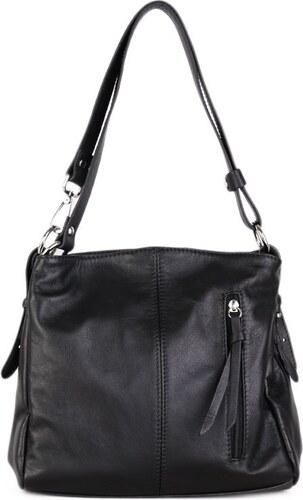 c92e715b7072 Talianske kožené kabelky športové crossbody čierne Astrid
