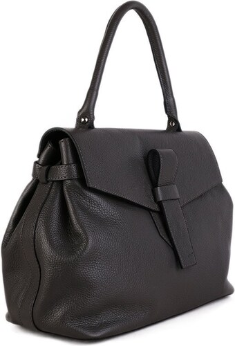 0deff74f7c -10% TALIANSKE Elegantná kožená kabelka do ruky Talianska sivá Rina