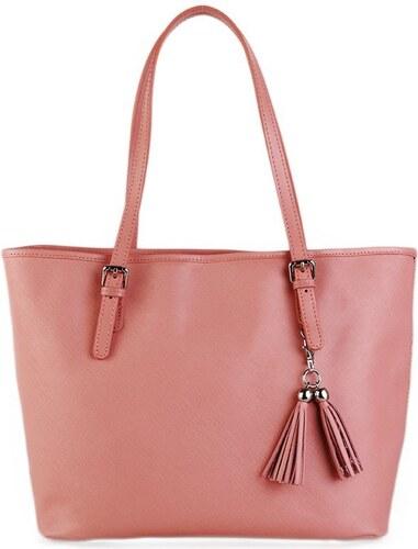 TALIANSKE Kožená kabelka shopperka Talianska staroružová Dorotea ... 424a502b73e