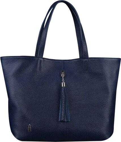 Kožená luxusná kabelka cez plece Wojewodzic modrá 31611 E GC14 ... a6f79a3cde0