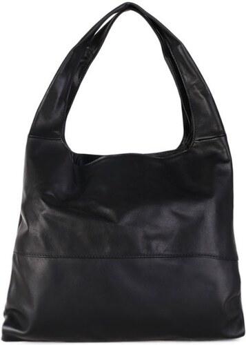 TALIANSKE Kožená kabelka cez plece Talianska čierna Tosca - Glami.sk 166af471d67