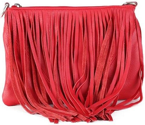 c74b0fa2b8 TALIANSKE Talianska kožené kabelky crossbody červená Marina - Glami.sk