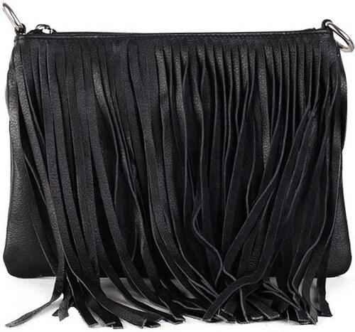 TALIANSKE Talianska kožené kabelky crossbody čierna Marina - Glami.sk 6a9e633d22d