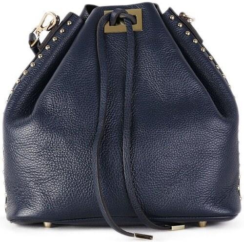 TALIANSKE Kožená luxusná kabelka cez plece Talianska modrá Jasna ... 7e5147a652d