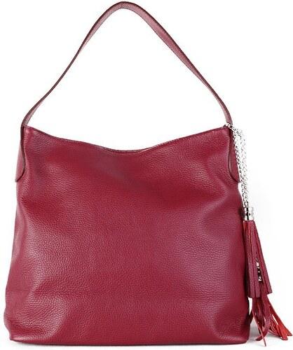 0b1dacdc13 TALIANSKE Talianska kožené kabelky cez rameno Talianska burgunská Fabiola