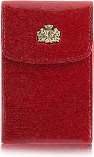 ba635dda19 Kožené značkové puzdro na vizitky Wittchen červené 6wit-03-7-079-k02 ...