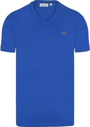 5d84519bd Modré slim fit tričko LACOSTE - Glami.cz