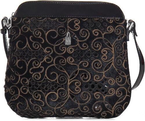 Kožená kabelka na rameno online čierna Wojewodzic 31120 PL01 HA01 ... a1b02a3b2d2