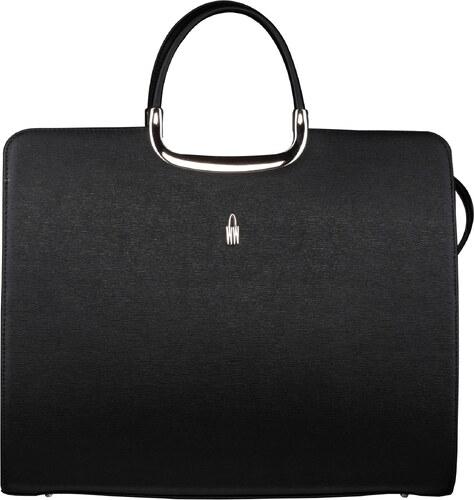 982c9a17c9 Kožená luxusná kabelka cez plece Wojewodzic čierna 33173 EA01 LY01 ...