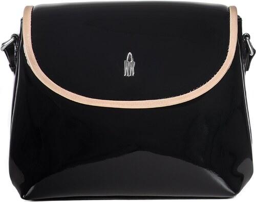 Luxusní lakované kožené crossbody kabelky černé 31408 PL01 05 Wojewodzic 92311154fb0