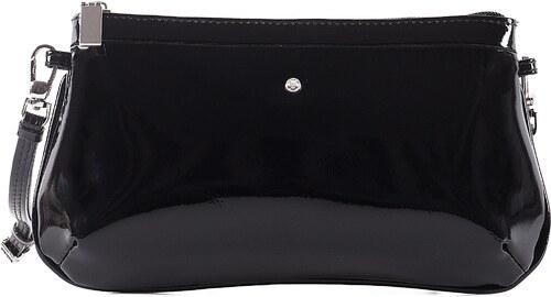 a01564c2e2 Malá lakovaná kožená kabelka spoločenská crossbody Wojewodzic čierna  3GD45 PL01