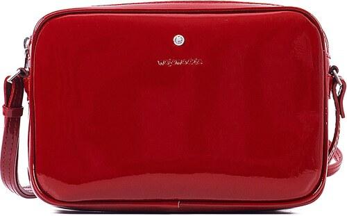 Malá crossbody kožená kabelka listová na párty Wojewodzic červená 31305 PL02 7e00cc2b997