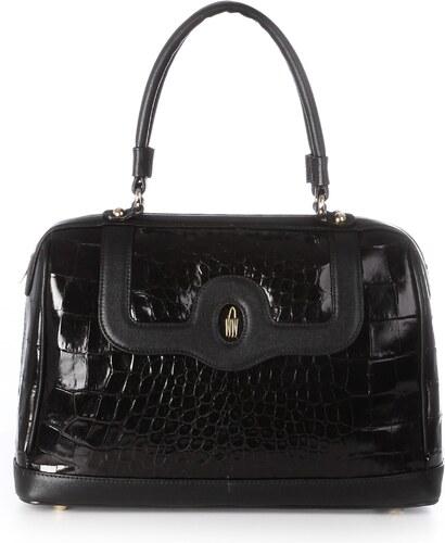 Kožené kabelky luxusné čierne online Wojewodzic 3GOLD002 KAT01 ES01 ... b2754f61546