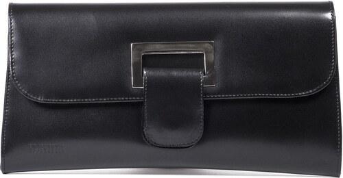 Kožená kabelka spoločenská čierna svadobná Wojewodzic 30622 P01 ... 12f87548dfe