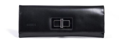 Kožená kabelka spoločenská luxusná čierna Wojewodzic 30314 P01 ... 15de965575b