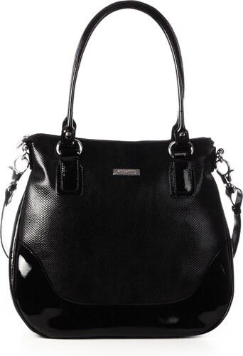Luxusní černé dámské kožené kabelky na rameno Wojewodzic 31110 PC01 PL01 ad5f49fb729