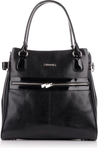 WOJEWODZIC Luxusní kožené kabelky značkové lakované černé Anna 30913 PC01 PL01 f9e6d0a49fb