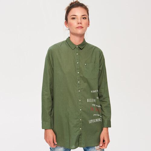 deb02b9db8 Sinsay - Dlhá košeľa s potlačou - Zelená - Glami.sk