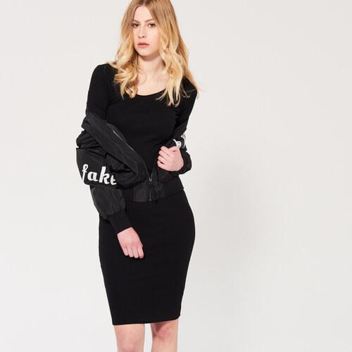 Sinsay - Dopasované šaty - Čierna - Glami.sk 36d8ee00c32