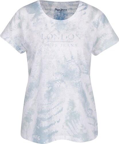 b33996a79d0 Zeleno-bílé dámské tričko s potiskem Pepe Jeans Julieta - Glami.cz