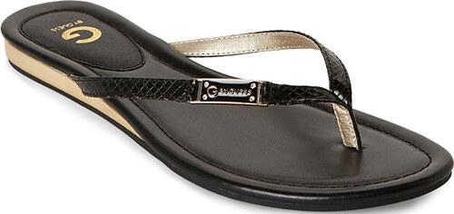 4990c85084 Guess Dámske žabky G by GUESS Women`s Jumper Thong Sandals Black ...