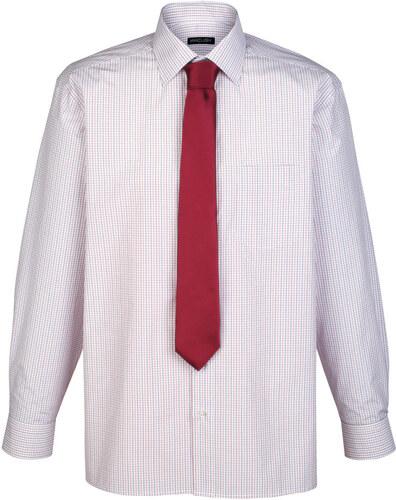 ff56846b3 Košeľa s kravatou biela/červená/modrá káro - Glami.sk