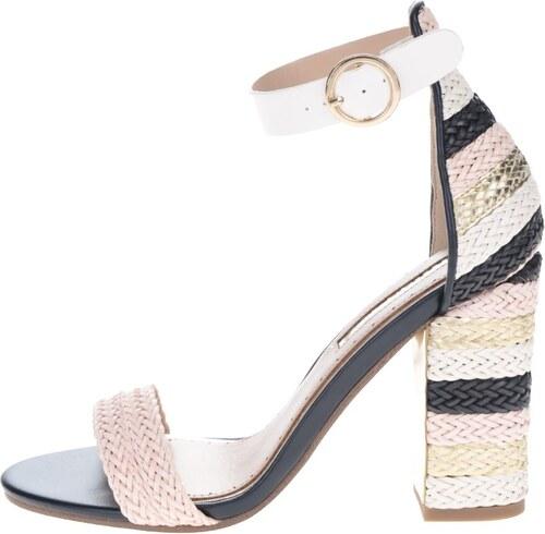 fcb629191f61e Krémovo-ružové sandálky na vysokom podpätku Miss KG Ebony - Glami.sk