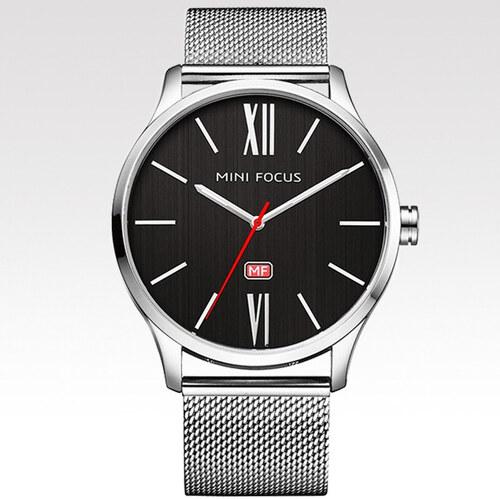 d9cef41878d Mini Focus Pánské hodinky s velkým ciferníkem Campus stříbrné - Glami.cz