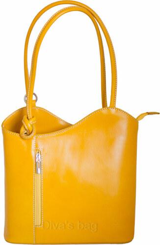 a1c921b7ef24 Diva Természetes bőr Sárga Táska cod. S6833-Yellow - Glami.hu