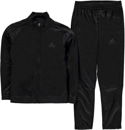adidas Tiro Poly Tracksuit dětské Boys Triple Black - Glami.sk c225aa3ed0f