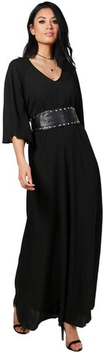 BOOHOO Splývavé čierne maxi šaty - Glami.sk 2efdd9e2d10