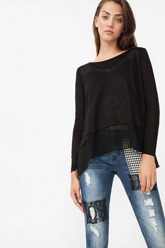 tričko Desigual Ts Pat22 Rep negro - Glami.sk 5681fb7ecc2