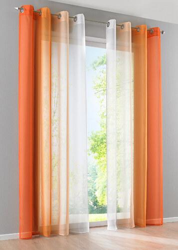 bpc living bonprix voilage d grad ens 2 pces orange pour maison. Black Bedroom Furniture Sets. Home Design Ideas