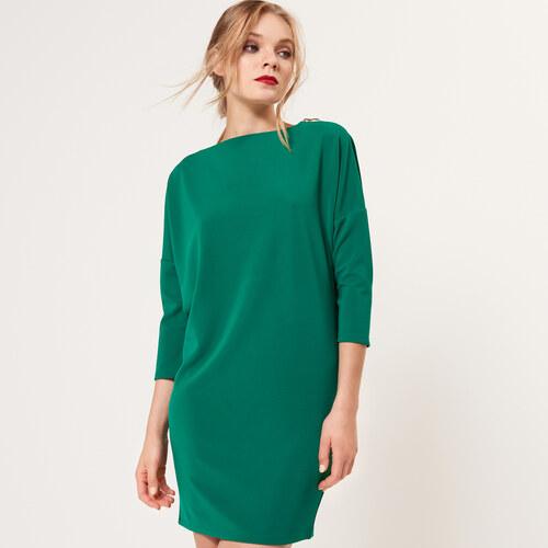 b98c163bd792 Mohito - Mäkké šaty s ozdobnými zipsami - Zelená - Glami.sk