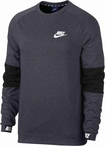 Pánské tričko Nike M NSW AV15 CRW FLC CHARCOAL HEATHR BLACK BLACK WH ... 578ec3b49c